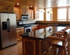 Custom Log Home Kitchen
