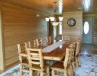 Custom Log Home Dining Room