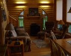 Custom Log Home Family Room / Den